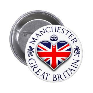 Amo Manchester Pin Redondo De 2 Pulgadas