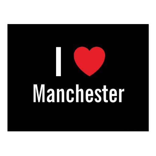 Amo Manchester Tarjetas Postales