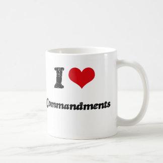 Amo mandamientos tazas de café