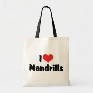 Amo Mandrills Bolsa Tela Barata
