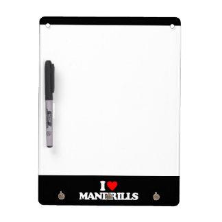 AMO MANDRILLS TABLEROS BLANCOS