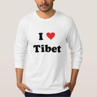 """""""Amo manga larga de Tíbet"""" Playeras"""