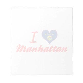 Amo Manhattan, Montana Libreta Para Notas
