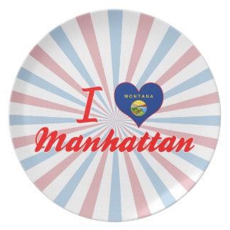 Amo Manhattan, Montana Plato Para Fiesta