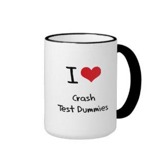 Amo maniquíes de la prueba del desplome tazas de café