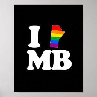 AMO MANITOBA GAY - BLANCO - .PNG POSTERS