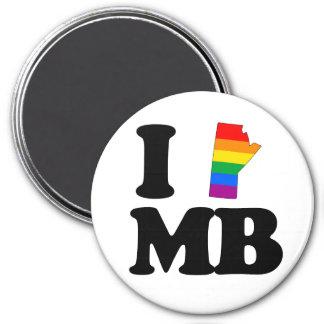 AMO MANITOBA GAY - .PNG IMÁN REDONDO 7 CM