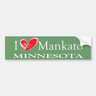 Amo Mankato Minnesota Pegatina De Parachoque