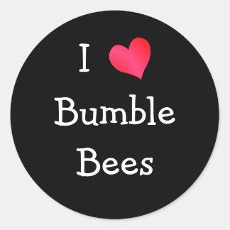 Amo manoseo abejas pegatina redonda