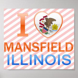 Amo Mansfield, IL Póster