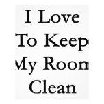 Amo mantener mi sitio limpio plantillas de membrete