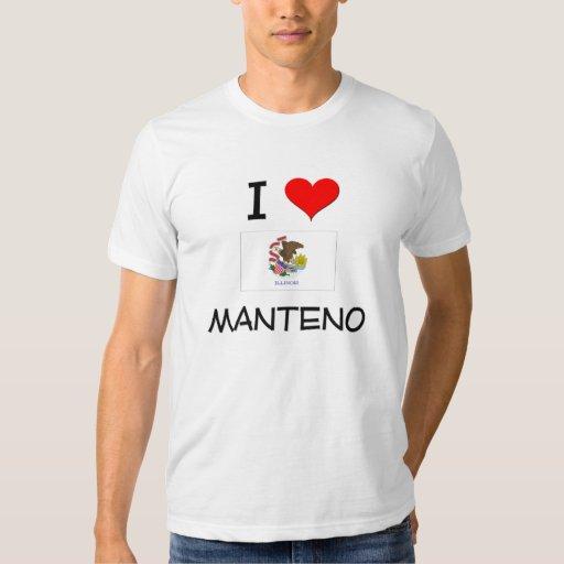 Amo MANTENO Illinois Playera
