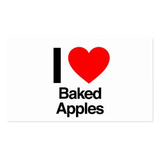 amo manzanas cocidas tarjetas de visita