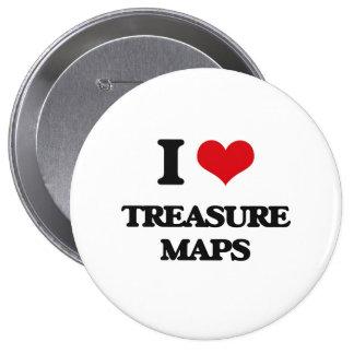 Amo mapas del tesoro chapa redonda 10 cm