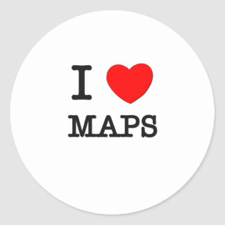 Amo mapas etiqueta redonda