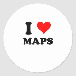 Amo mapas pegatinas redondas