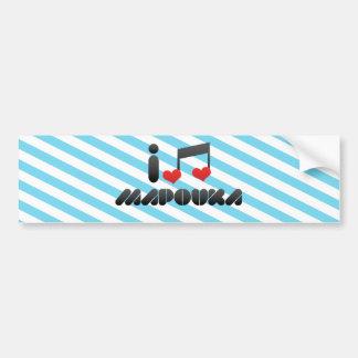 Amo Mapouka Etiqueta De Parachoque