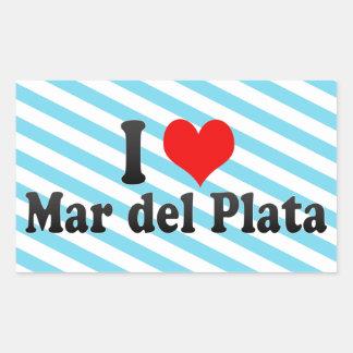 Amo Mar del Plata, la Argentina Pegatina Rectangular