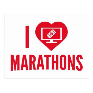 Amo maratones postales