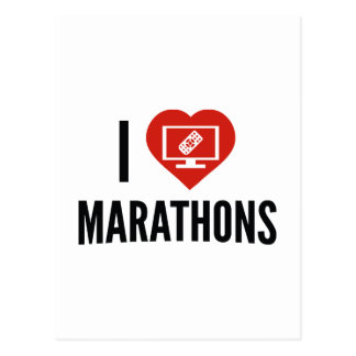 Amo maratones tarjetas postales