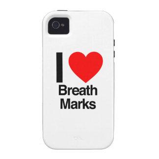 amo marcas de la respiración iPhone 4 carcasa