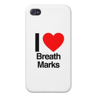 amo marcas de la respiración iPhone 4/4S carcasas