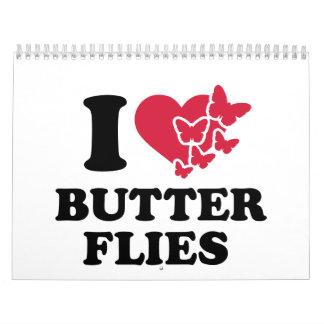 Amo mariposas calendarios de pared