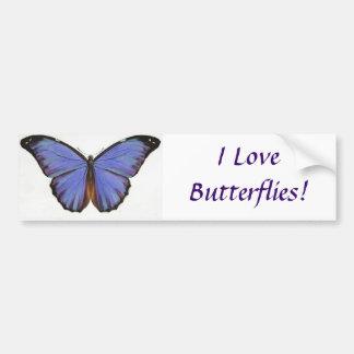 ¡Amo mariposas! Pegatina para el parachoques Pegatina Para Auto