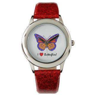 ¡Amo mariposas! Reloj De Mano