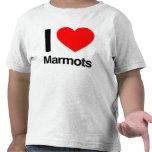 amo marmotas camisetas