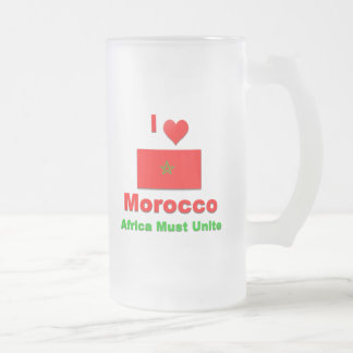 Amo Marruecos, África debo unir Taza De Cristal
