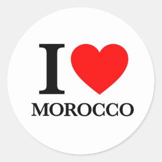 Amo Marruecos Pegatina Redonda