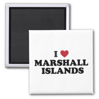 Amo Marshall Islands Imán Para Frigorífico