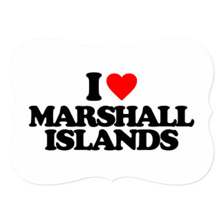 """AMO MARSHALL ISLANDS INVITACIÓN 5"""" X 7"""""""