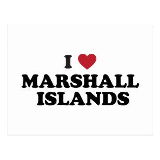 Amo Marshall Islands Tarjeta Postal