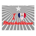 Amo Marshalltown, Iowa Tarjeta Postal