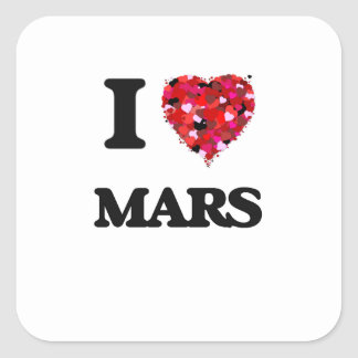 Amo Marte Pegatina Cuadrada