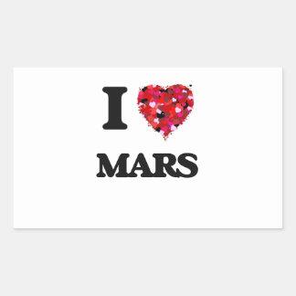 Amo Marte Pegatina Rectangular