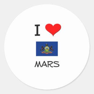 Amo Marte Pennsylvania Pegatina Redonda
