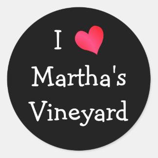 Amo Martha's Vineyard Pegatina Redonda