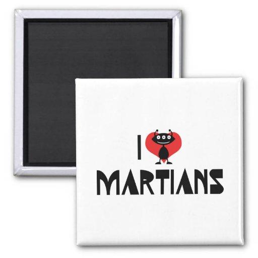 Amo Martian Imán Cuadrado