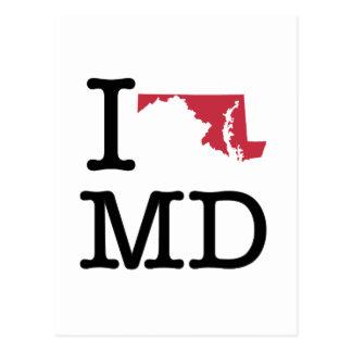 Amo Maryland Tarjetas Postales