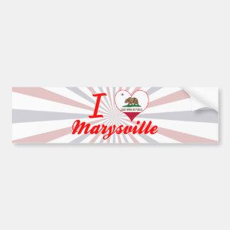 Amo Marysville, California Etiqueta De Parachoque