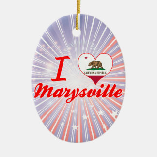 Amo Marysville, California Adorno Ovalado De Cerámica