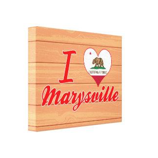 Amo Marysville, California Impresiones En Lona Estiradas