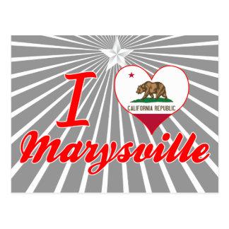 Amo Marysville, California Tarjetas Postales