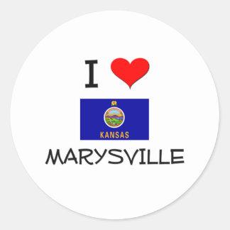 Amo MARYSVILLE Kansas Etiqueta Redonda