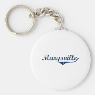 Amo Marysville Michigan Llavero Redondo Tipo Pin