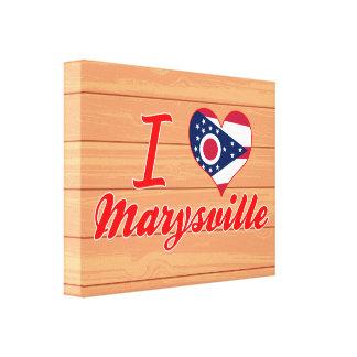 Amo Marysville, Ohio Lona Envuelta Para Galerias
