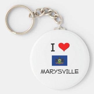 Amo Marysville Pennsylvania Llavero Redondo Tipo Pin